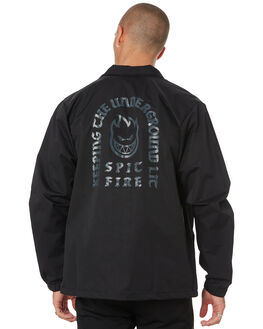 BLACK MENS CLOTHING SPITFIRE JACKETS - 54010082BLK