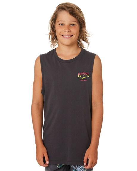 DARK GREY KIDS BOYS RIP CURL TOPS - KTEWW31221