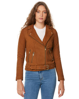 TAN WOMENS CLOTHING TIGERLILY JACKETS - T385241TEN