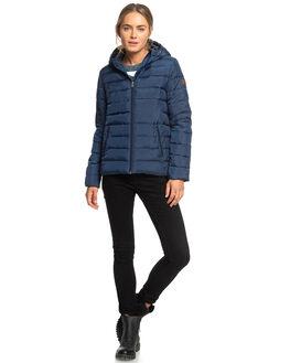 DRESS BLUES WOMENS CLOTHING ROXY JACKETS - ERJJK03250-BTK0