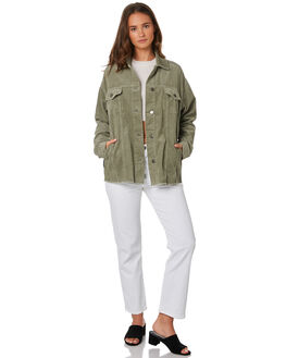 LIGHT KHAKI WOMENS CLOTHING ALL ABOUT EVE JACKETS - 6434072LGRN