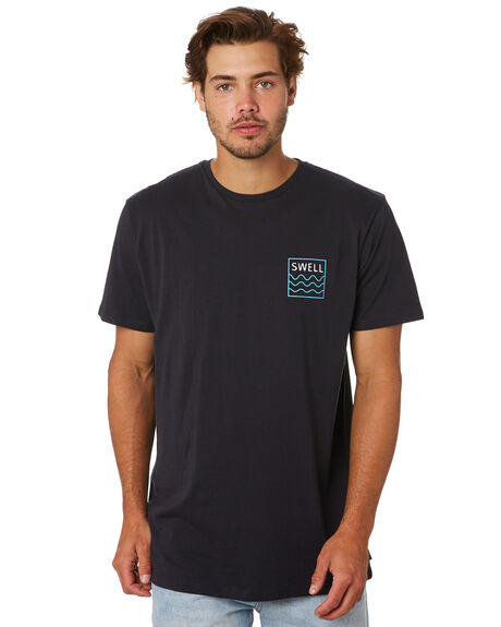 BLACK MENS CLOTHING SWELL TEES - S5201021BLACK
