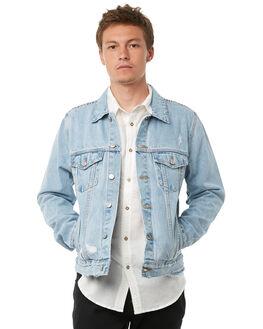 BEATEN INDIGO MENS CLOTHING NEUW JACKETS - 328111001