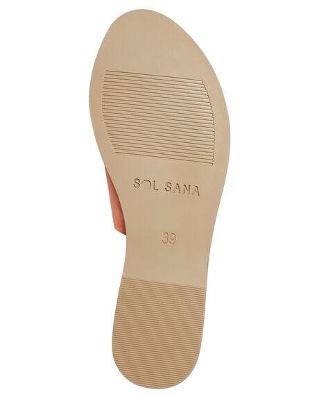 SAKURA PINK SUEDE WOMENS FOOTWEAR SOL SANA SLIDES - SS191S336PNK