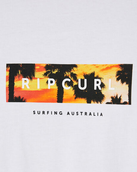 WHITE MENS CLOTHING RIP CURL TEES - CTETW21000