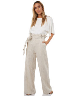 WHITE LINEN WOMENS CLOTHING WILDE WILLOW FASHION TOPS - K356WHT