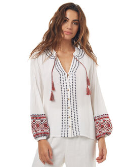 WHITE WOMENS CLOTHING TIGERLILY FASHION TOPS - T371102WHT