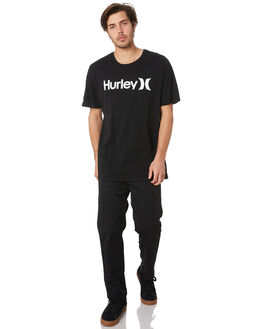 BLACK WHITE MENS CLOTHING HURLEY TEES - AH7935011