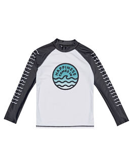 BLACK WHITE BOARDSPORTS SURF ALPHABET SOUP BOYS - AS-KBC8347BKWHT