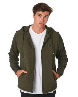 DARK MILITARY MENS CLOTHING RVCA JACKETS - R393443DKMIL