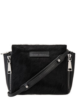 BLACK FUR WOMENS ACCESSORIES STATUS ANXIETY BAGS - SA7222BKFUR