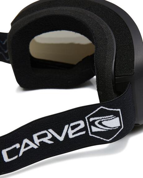 MATT BLACK SILVER BOARDSPORTS SNOW CARVE GOGGLES - 6220-01MBLKG