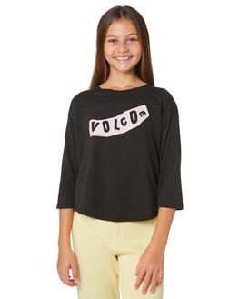 BLACK KIDS GIRLS VOLCOM TOPS - B35119Y2BLK