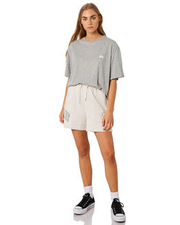 GREY MARLE WOMENS CLOTHING STUSSY TEES - ST192014GRYMA