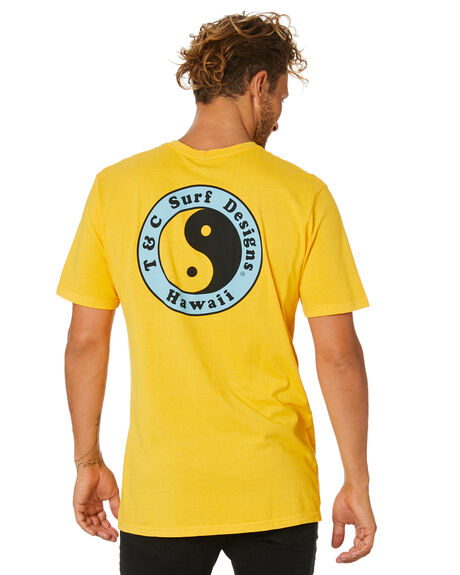 VINTAGE YELLOW MENS CLOTHING TOWN AND COUNTRY TEES - TTE111UVYL