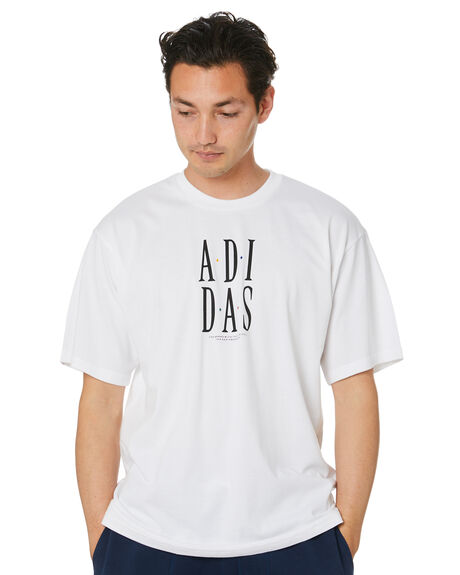 WHITE MENS CLOTHING ADIDAS TEES - GJ2684WHT