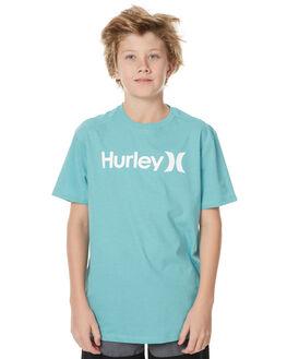 DIFFUSED JADE HEATHR KIDS BOYS HURLEY TEES - ABTSPOSH236VH