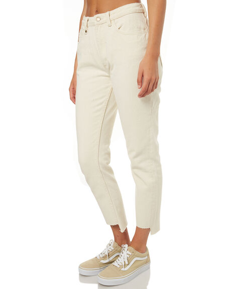 BONE WHITE WOMENS CLOTHING THRILLS JEANS - WTDP-407ABNWHT