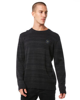 DARK GREY HEATHER MENS CLOTHING QUIKSILVER KNITS + CARDIGANS - EQYSW03217KRPH