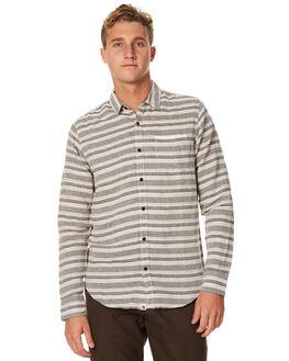 BEIGE STRIPE MENS CLOTHING OURCASTE SHIRTS - W1032BGEST