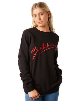 BLACK WOMENS CLOTHING BILLABONG JUMPERS - 6581732BLK