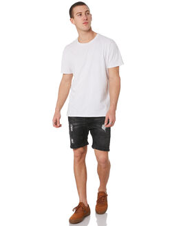 BROKEN BLACK MENS CLOTHING NENA AND PASADENA SHORTS - NPMFS002BBLK
