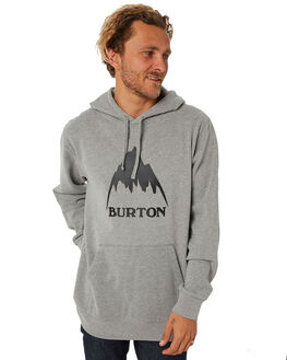 GREY HEATHER MENS CLOTHING BURTON JUMPERS - 196821020