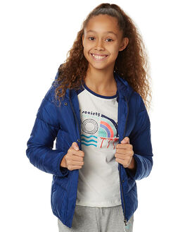 BLUE DEPTHS KIDS GIRLS ROXY JACKETS - ERGJK03038BTA0