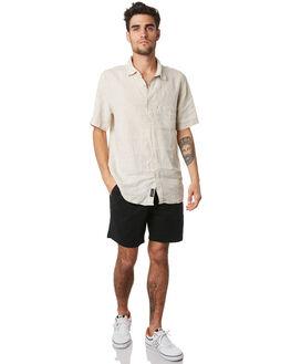 BLACK MENS CLOTHING ACADEMY BRAND SHORTS - 20S602BLK