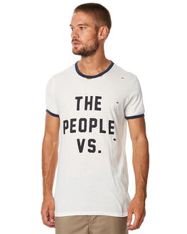 WHITE MENS CLOTHING THE PEOPLE VS TEES - AW17025-WHT