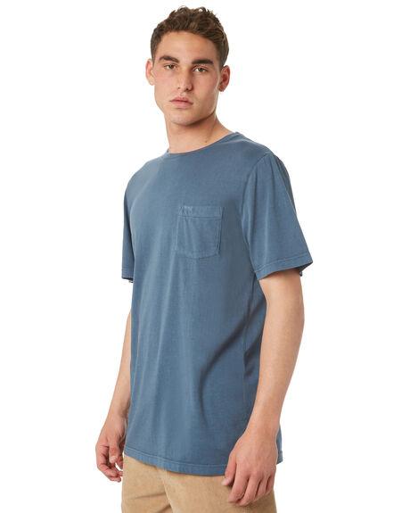CHINA BLUE MENS CLOTHING RVCA TEES - R181066CHBLU