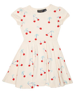 CHERRY PRINT KIDS TODDLER GIRLS ROCK YOUR BABY DRESSES - TGD1714-CBCHR