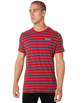 RED BLUE MENS CLOTHING ROLLAS TEES - 15649B2868