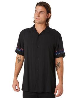 BLACK MENS CLOTHING GLOBE SHIRTS - GB01914007BLK