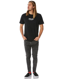 BLACK MENS CLOTHING AFENDS TEES - M183003BLK