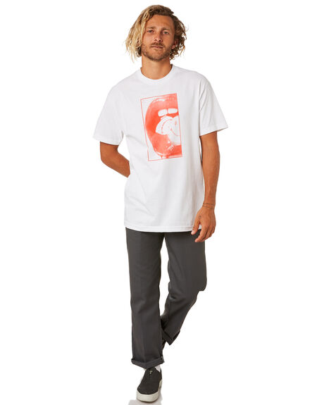 WHITE MENS CLOTHING DYED TEES - DY19WHTWWHT