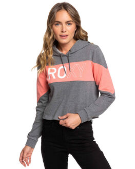 CHARCOAL HEATHER WOMENS CLOTHING ROXY JUMPERS - ERJFT04098-KTAH