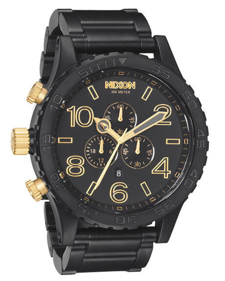 MATT BLACK GOLD MENS ACCESSORIES NIXON WATCHES - A0831041MBG