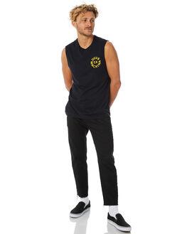 BLACK MENS CLOTHING DEUS EX MACHINA SINGLETS - DMP81566ABLK