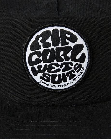 WASHED BLACK KIDS BOYS RIP CURL HEADWEAR - KCAAI98264