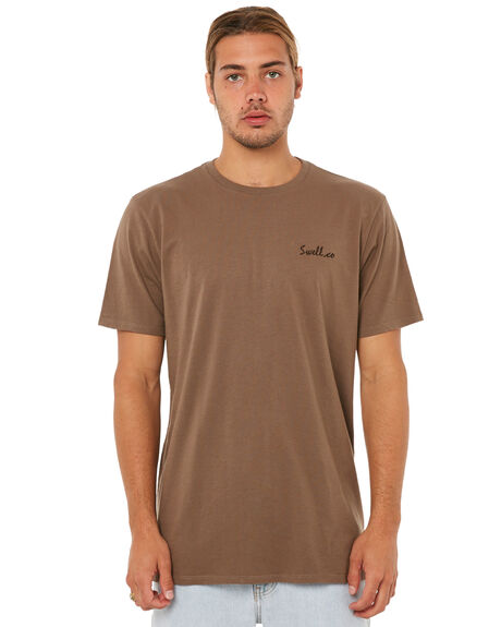 WASHED OLIVE MENS CLOTHING SWELL TEES - S5183006WSHOL