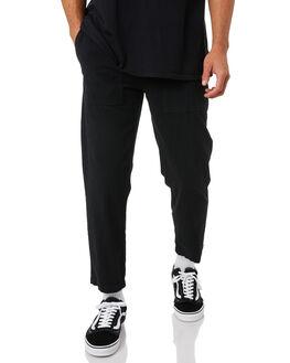 BLACK MENS CLOTHING RUSTY PANTS - PAM1033BLK