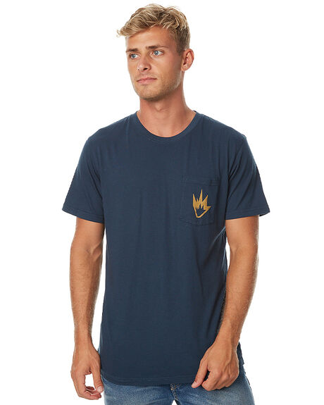 NAVY MENS CLOTHING AFENDS TEES - 01-01-261NAV