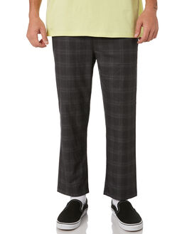 BLACK MENS CLOTHING STUSSY PANTS - ST091605BLACK