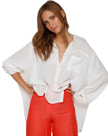 WHITE WOMENS CLOTHING BILLABONG FASHION TOPS - BB-6591105-WHT