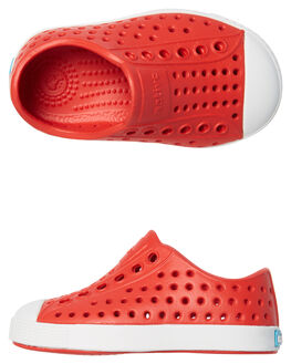 TORCH RED WHITE KIDS TODDLER BOYS NATIVE FOOTWEAR - 13100100-6400