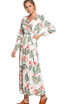 MARSHMALLOW TROPICAL WOMENS CLOTHING ROXY DRESSES - ERJWD03309-WBT7