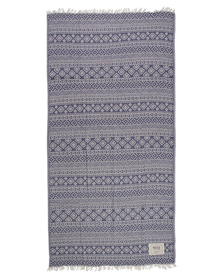 NAVY BLUE WOMENS ACCESSORIES MAYDE TOWELS - 17CABANVYBNVY