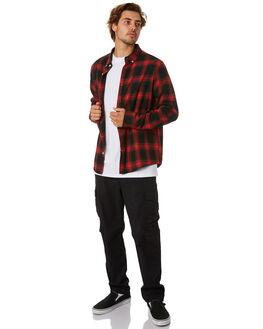 BLACK MENS CLOTHING HUFFER PANTS - MPA01S6101BLK