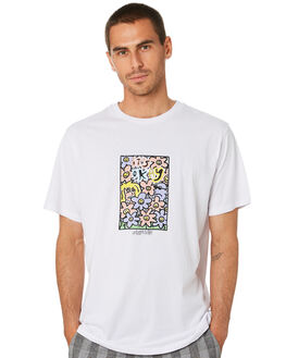 WASHED WHITE MENS CLOTHING MISFIT TEES - MT005003WSHWT